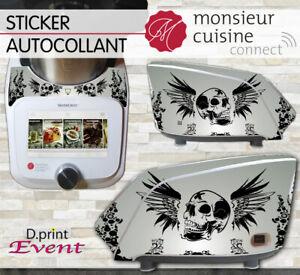 Stickers Autocollants Monsieur Cuisine Connect MCC - Tête de Mort Skull