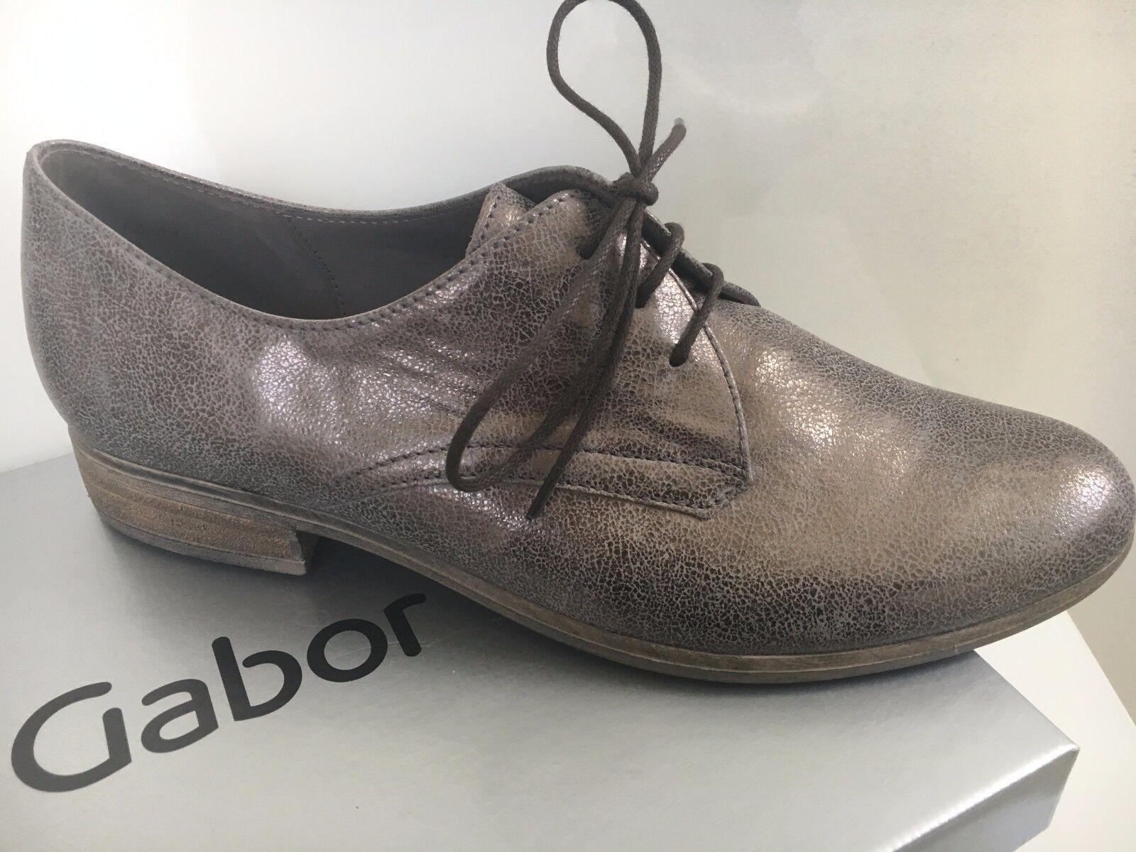 Gabor • Damen Used Metall Metall Metall Halbschuhe eb3c6e