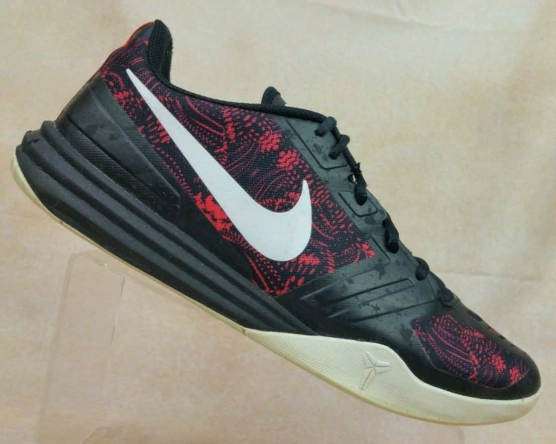 NIKE Kobe Mentality 2 Black Red Basketball shoes 704942-600 Men's US 12   EUR 46