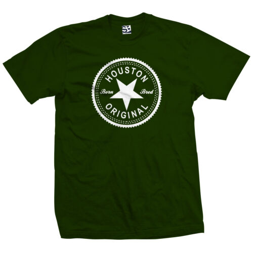 Houston Original Inverse T-Shirt All Sizes Colors Born and Bred in Made Tee