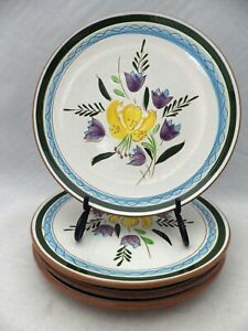 Stangl-Pottery-set-of-4-Salad-plates-Country-Garden-pattern-8-1-8-034-EUC
