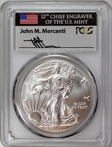 1 OZ MS-70 PCGS Philadelphia Mint 2017 P Silver American Eagle MS-70 PCGS