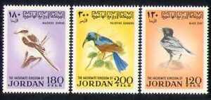 Jordan 1970 Birds/Nature/Wildlife/Sunbird 3v set n28421