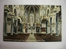 VINTAGE POSTCARD INTERIOR OF THE CHURCH OF THE SACRED HEART IN TAMPA, FLORIDA
