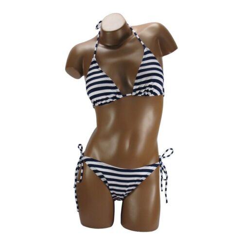 Bikini Costume Bagno Mare Donna BELLE COM/' ELLE a Righe B011 Tg S M L XL
