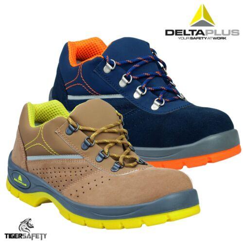 Delta Plus Rimini III S1P SRC Suede Leather Steel Toe Cap Safety Trainers Shoes