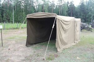 Image is loading MILITARY-SURPLUS-TENT-COMMAND-POST-Army-Garage-connecting- & MILITARY SURPLUS TENT COMMAND POST Army Garage connecting tunnel ...