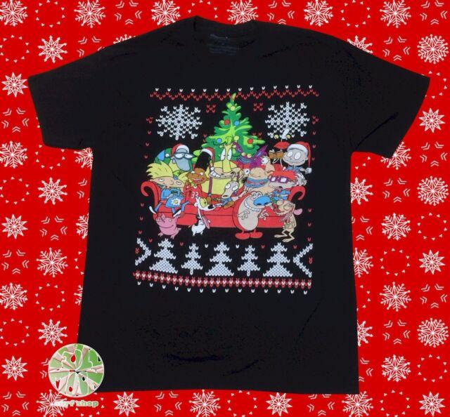 Nickelodeon Mens Ugly Christmas Sweater