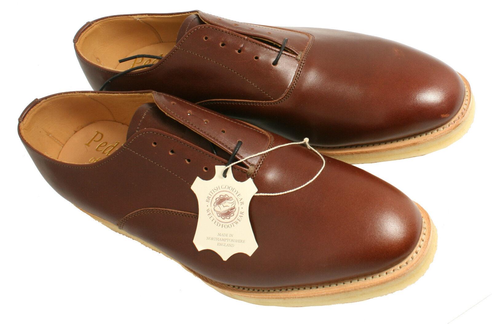 GENTLEMAN'S Lacci Scarpa pediwear Collection Sammy marrone Uk Taglia 9 (EU Taglia 43)