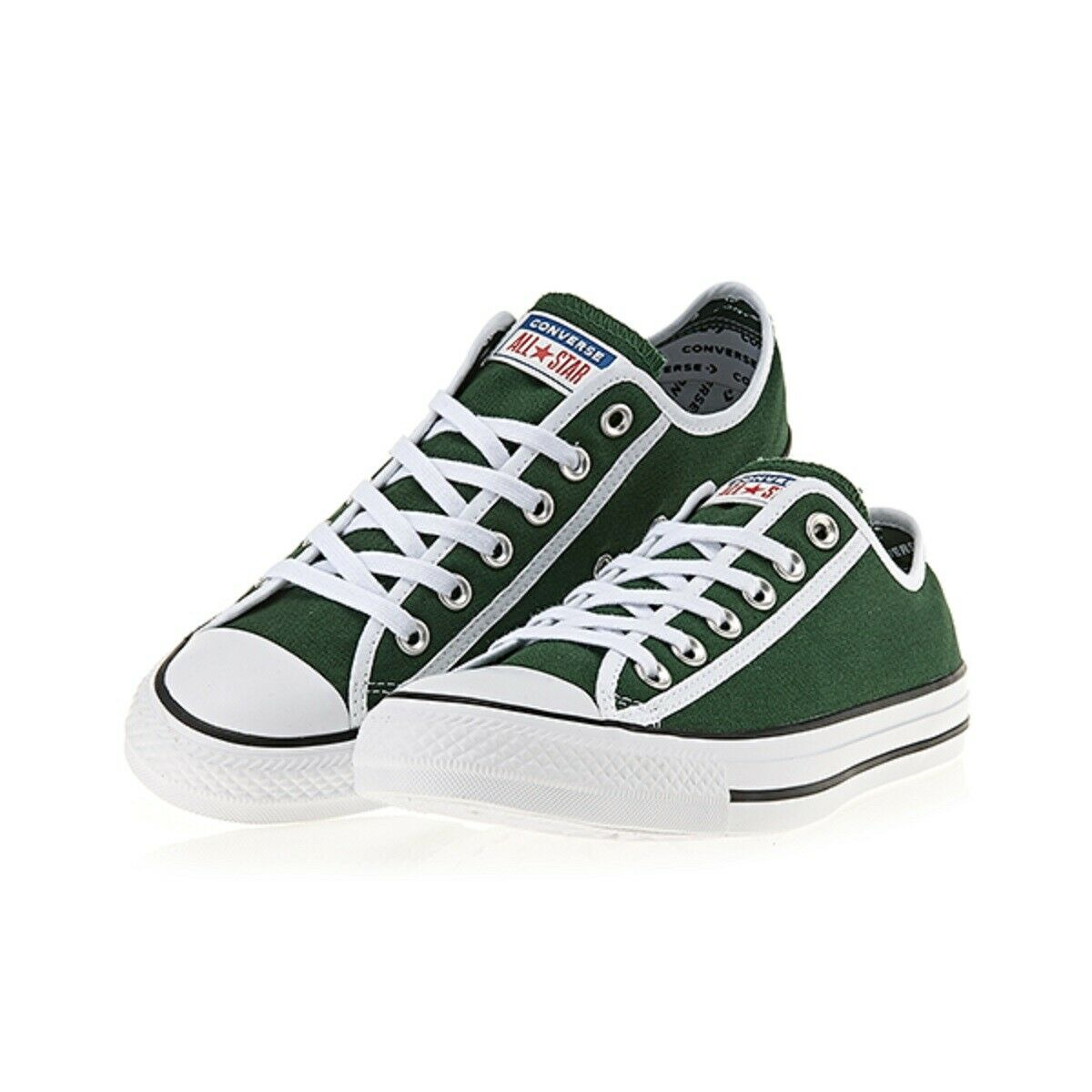CONVERSE 163981C Fir bianca Chuck Taylor All star OX Junior Unisex verde bianca