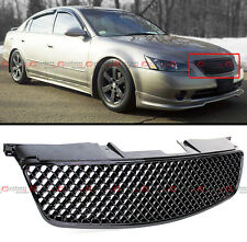 FIT FOR 2002-2004 3RD GEN NISSAN ALTIMA BADGELESS 3D BLACK FRONT HOOD MESH GRILL