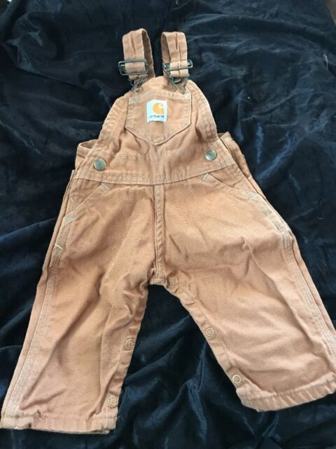 371813eec Carhartt Baby- Boys Infant Duck Bib Overall Brown 24 Month