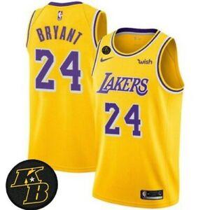 Details about Kobe Bryant Los Angeles LAKERS Nike WISH Gold KOBE KB Patch Swingman Jersey XL