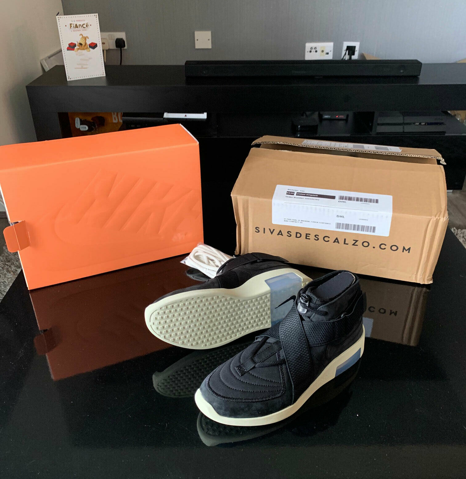 Official Nike x FEAR OF GOD schwarz RAIDS Turnschuhe Dead stock