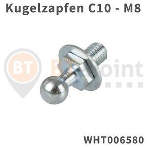 Kugelzapfen-10mm-M8-VW-Golf-5-6-Kugelkopf-OPEL-BMW-Kugel-Zapfen-Kopf-Gasfeder