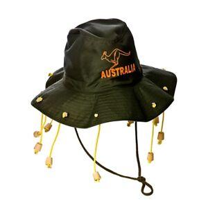 AUSSIE AUSTRALIAN HAT WITH CORKS CORK HAT CROCODILE DUNDEE OZZIE FANCY DRES