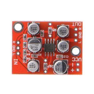 DC-5V-15V-12V-AD828-Stereo-Preamp-Power-Board-Amplifier-Preamplifier-Module