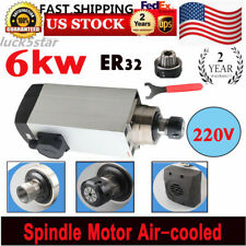 6000w Spindle Motor Er32 Air Cooled Cnc Router Mill Machine Engraving Grinding
