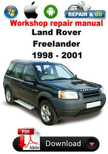land rover freelander 1998 2001 factory workshop repair manual ebay rh ebay com 1998 land rover discovery repair manual pdf 1998 land rover discovery owners manual