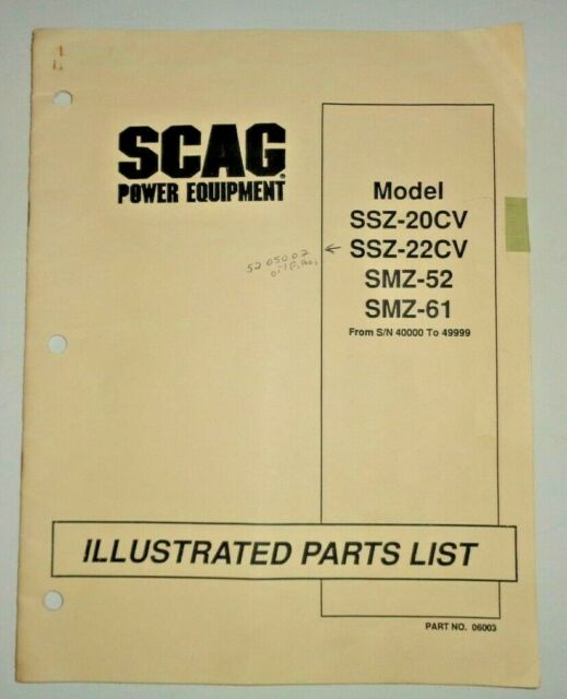 Scag Ssz 20cv Manual Guide