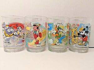 Complete Set of 4 Disney 100 Years of Magic McDonalds Drinking Glasses