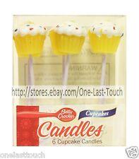 BETTY CROCKER 6pc Set CUPCAKES Birthday Cake CANDLES Decoration GENERAL MILLS