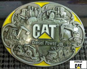 "Classic Caterpillar Diesel PowerTractor Loader Belt Buckle Full Metal 3.5/"" USA"