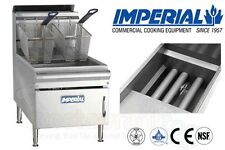 IMPERIAL COMMERCIAL FRYER COUNTER TOP GAS-TUBE FIRED FRY POT NAT GAS IFST-25