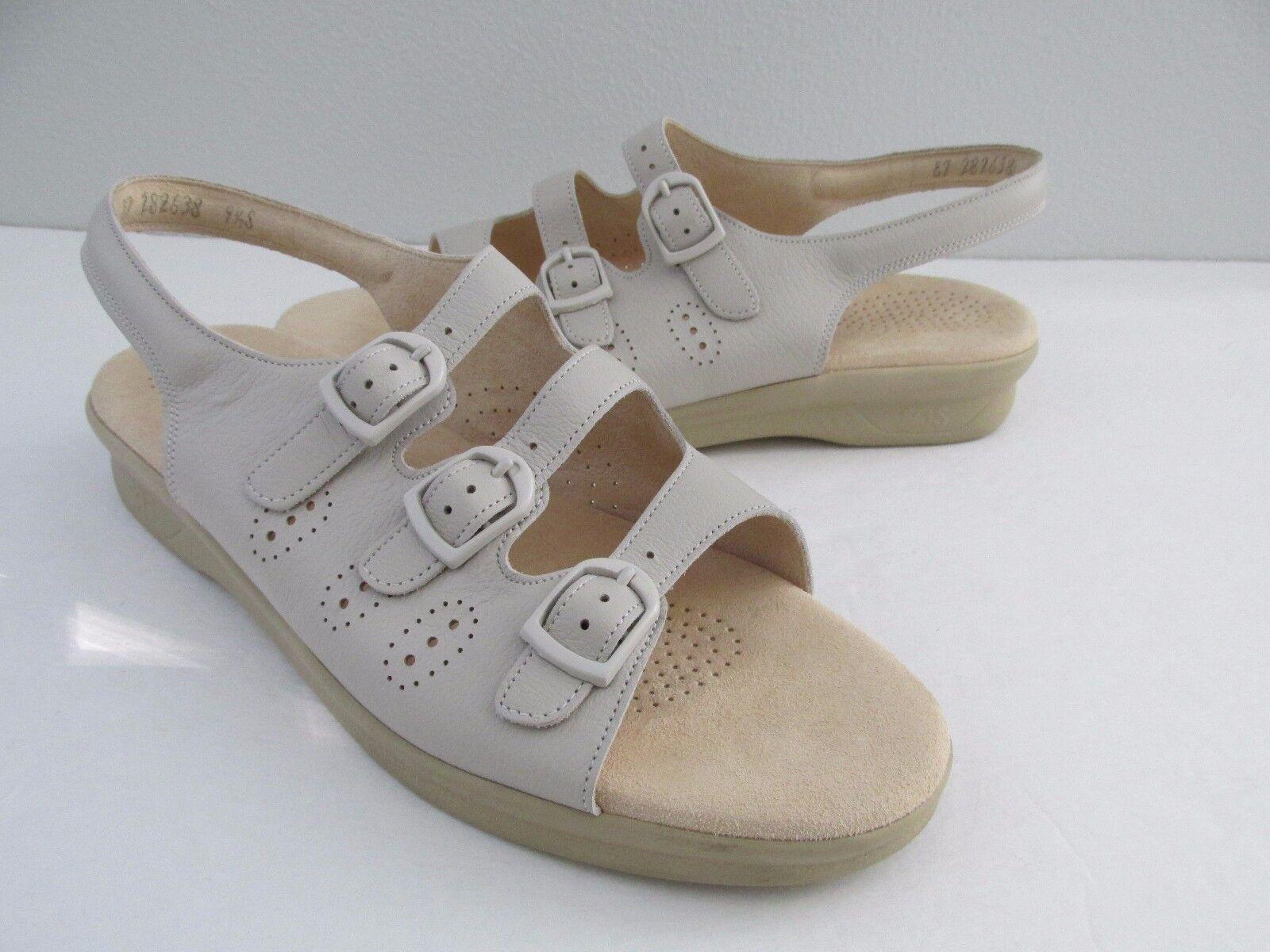 SAS Tri-Pad Womens Size 9.5S Bone Beige Trio Tri-Pad SAS Triple Strap Comfort Sandals 8ca28d