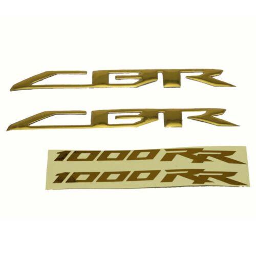 KODASKIN Gold Emblem Custom Sticker Decal 3d Raise for Honda CBR1000RR 2008-2015
