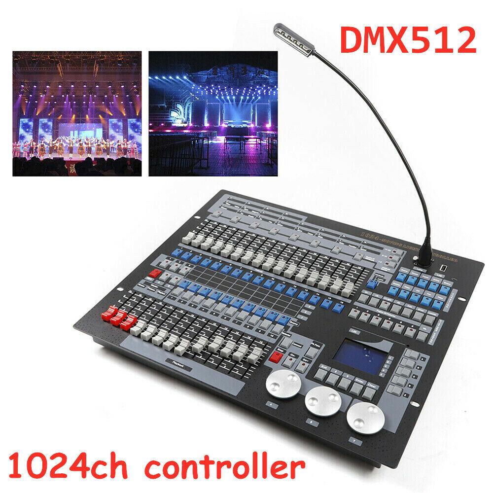 DJ Equipment 1024 DMX Controller Lichtkonsole DMX512 Control FAT32 USB