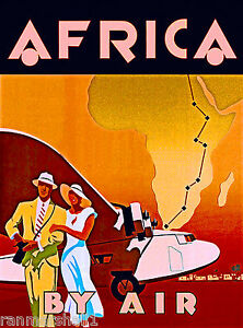 Image Is Loading Africa By Air Airplane Clipper Vintage African Travel