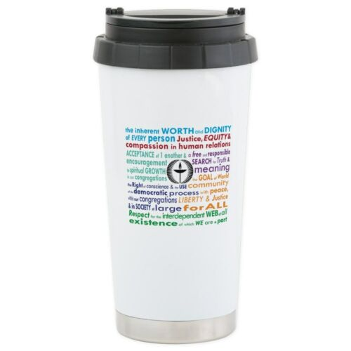 CafePress UU Principles Stainless Steel Travel Mug Stainless Mug 963679289