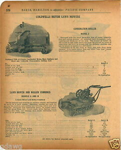1920 Paper Ad 12 Pg Coldwell S Motor Lawn Mower Roller