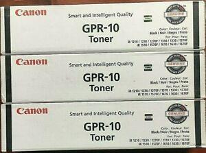 LOT-of-3-NEW-Sealed-Units-Canon-GPR-10-Toner-BLACK-Original-Packaging-Genuine