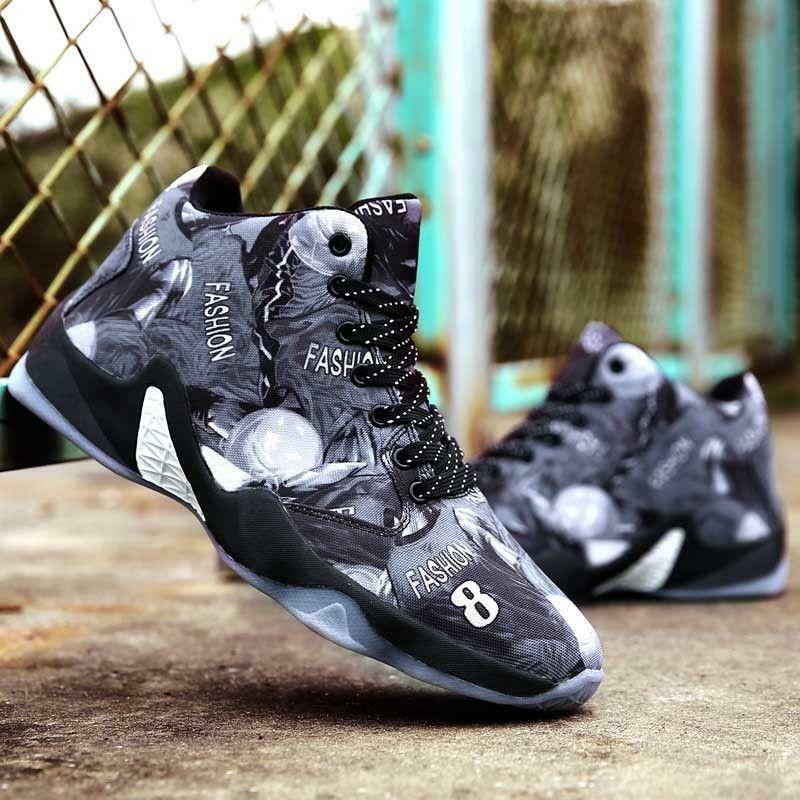 Men's Damping Basketball shoes High Top Athletic Sport Training Sneakers Stylish