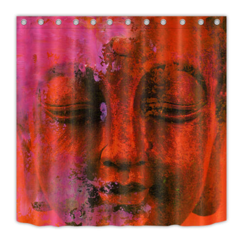 Shower Curtain Set Bathroom Waterproof Fabric Abstract Painted Color Buddha  72/""