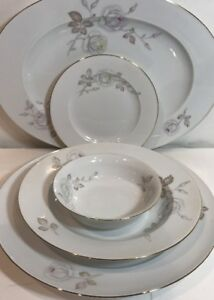 Image is loading 25-pc-Johann-Haviland-Bavaria-Germany-Sweetheart-Rose- & 25 pc Johann Haviland Bavaria Germany Sweetheart Rose Floral China ...