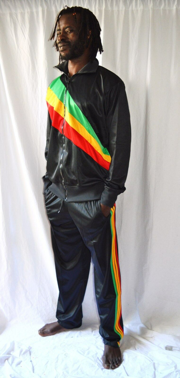 Rasta Jogging Anzug_Trainingsanzug_Jacke + Hose_Trainer_Reggae