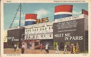 Chicago-ILLINOIS-1933-34-Chicago-World-039-s-Fair-034-Streets-of-Paris-034-1935