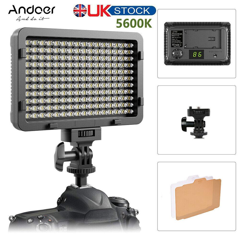 176LED Video Light 5600K On Camera Photography Light Panel For Cannon Nikon Sony