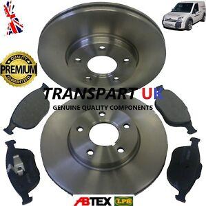 Transit Parts Transit Connect 1.8 /& 1.8 TDCI Tddi Front Brake Discs Pads Set 2002