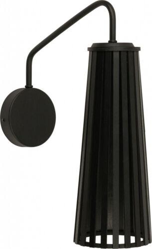 Wandleuchte Wandlampe Schlafzimmer Verstellbar Schwarz Holz Schirm Länglich