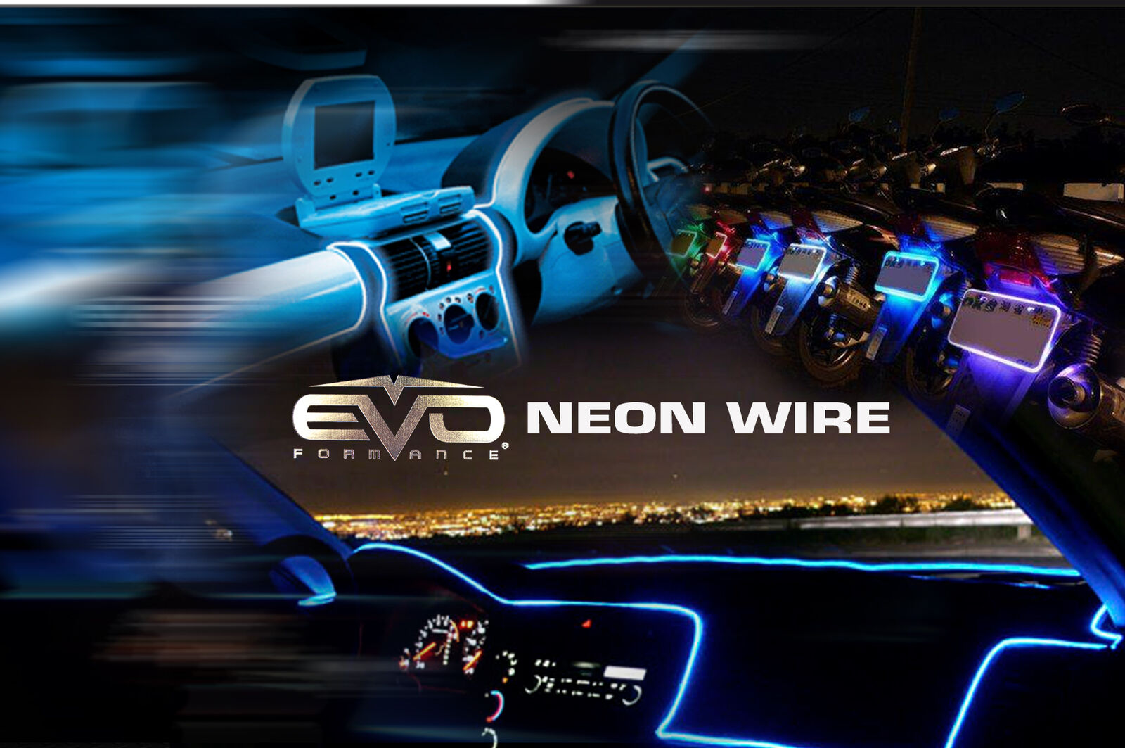 EVO Formance Car Neon Wire String LED strip Light Rope 1.5M//5' Waterproof White