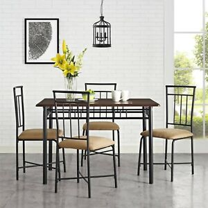 Mainstays Dining Table Set 5pcs E Saver Kitchen Furniture Chairs