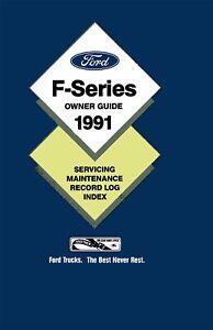Bishko-OEM-Maintenance-Owner-039-s-Manual-Bound-for-Ford-Truck-F-Series-1991
