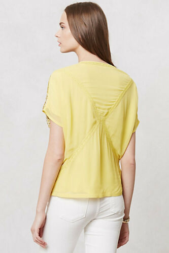 Last 1 RARE Yellow Details about  /NEW S Anthropologie Sequined Surya Kimono By Ranna Gill