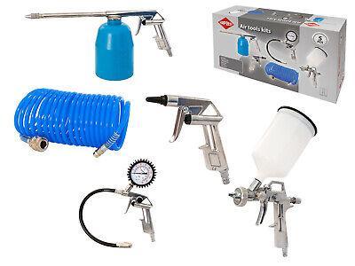 AIRPRESS 45893 Kit Accessoires 5-tlg farbspritzpistole peinture Spiralschlauch