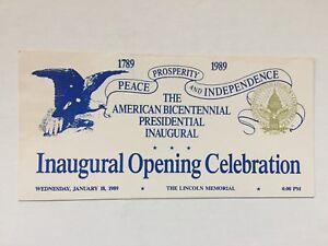 1989-President-George-H-W-Bush-Inaugural-Opening-Celebration-White-Ticket