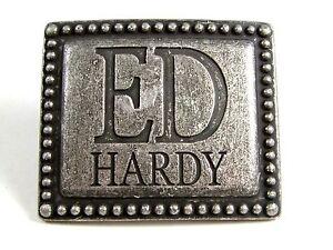 Silvertone Gürtelschnalle Von Ed Hardy Ruf Zuerst